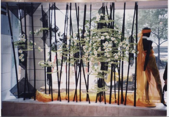 水果店橱窗墙围贴画